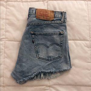 Vintage Levi's high-waisted shorts